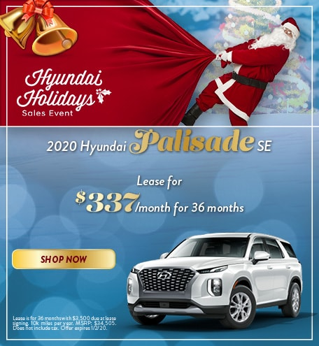 2020 Hyundai Palisade - December Offer