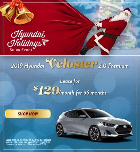 2019 Hyundai Veloster - December Offer