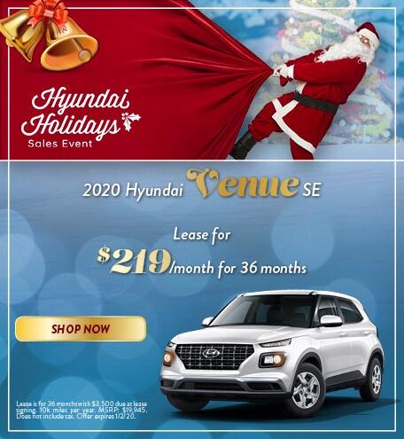 2020 Hyundai Venue - December Offer