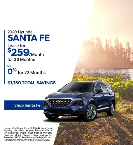 2020 Santa Fe - October Offer