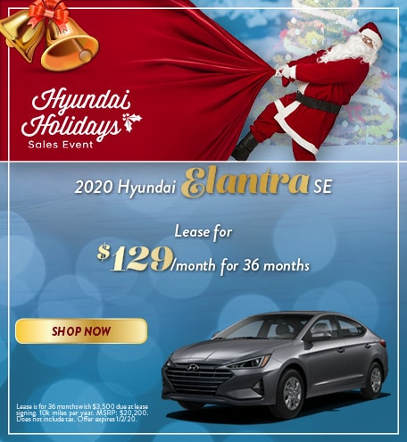 2020 Hyundai Elantra - December Offer