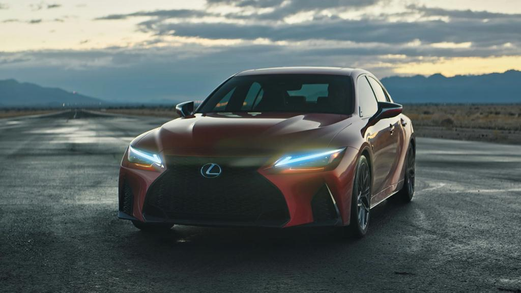 2022 Lexus IS 500 driving on the road