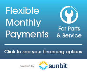 Flexible Monthly Payments on Parts & Service