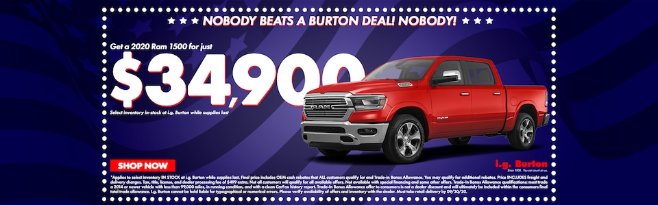 Save big on a new Ram 1500!