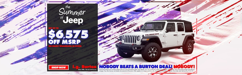Save big on a new Wrangler!