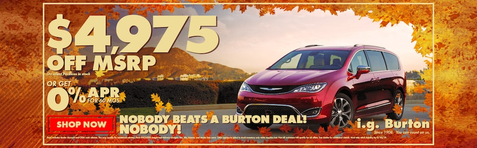 Save big on a new Pacifica!