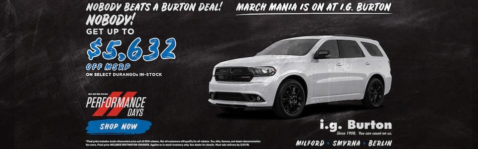 Save big on a new Dodge Durango!