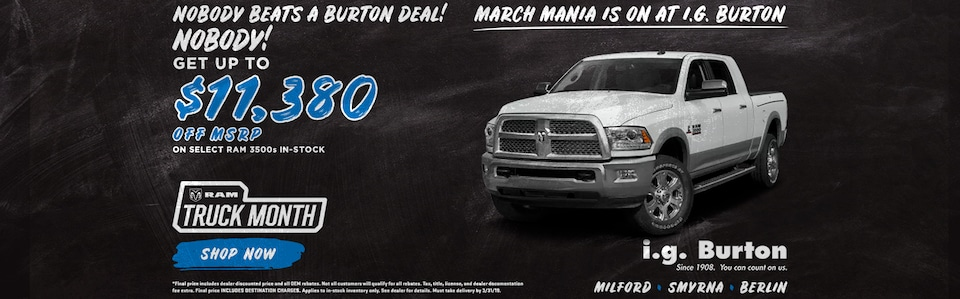 Save big on a new Ram 3500!