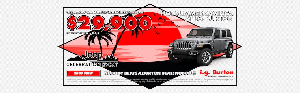 Home of the $29,900 Wrangler Unlimited!