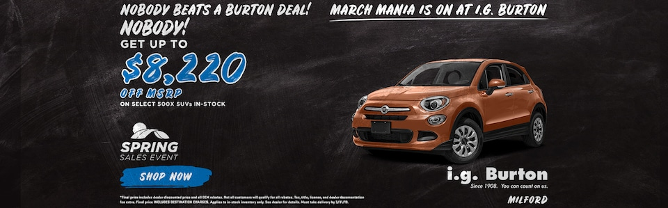 Save big on a new Fiat 500X!