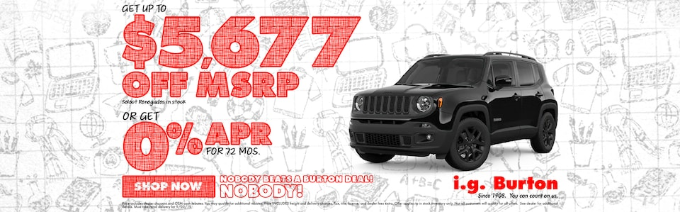 Save big on a new Jeep Renegade!