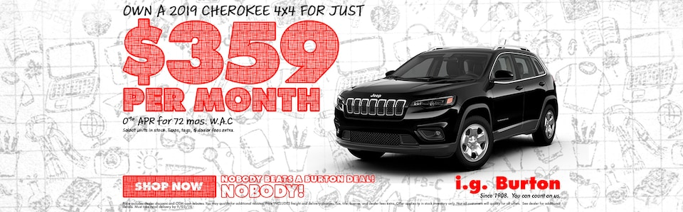 Save big on a new Jeep Cherokee!