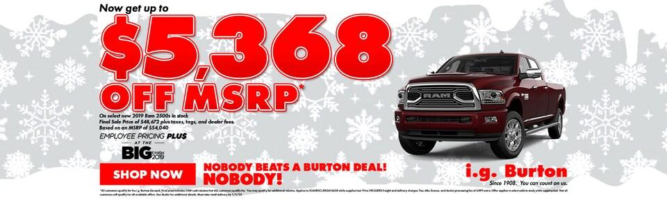 Save big on a new Ram 2500!