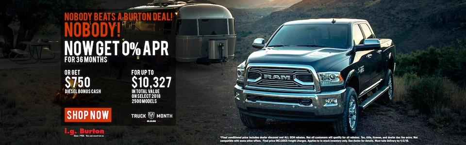 Save up to $10,327 on a new Ram 2500!
