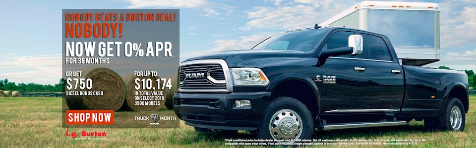 Save up to $10,174 on a new Ram 3500!