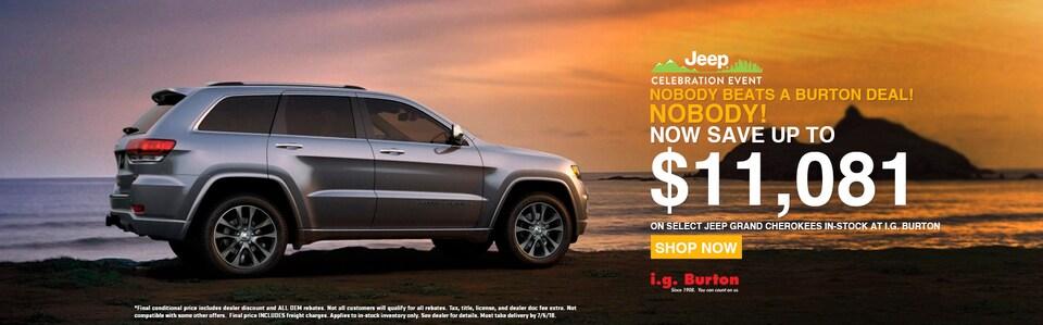 Save big on a new Grand Cherokee!
