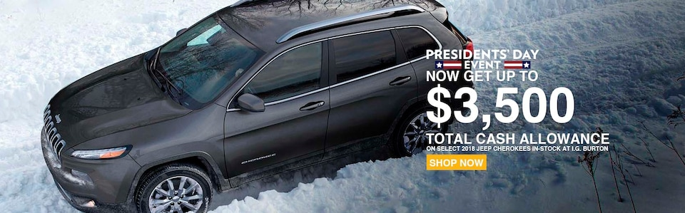 Save up to $3,500 on a new Cherokee!