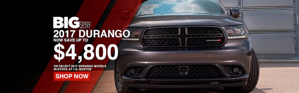 Save up to $4,800 on a new Dodge Durango!