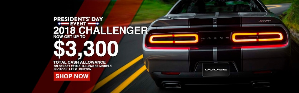 Save up to $3,300 on a new Challenger!