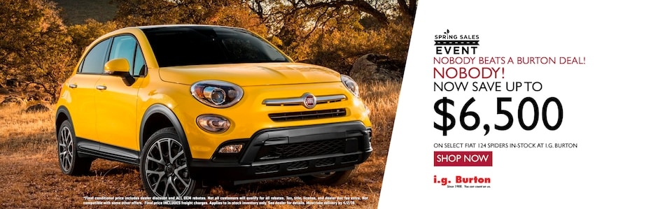 Save up to $6,500 on a new 500X!