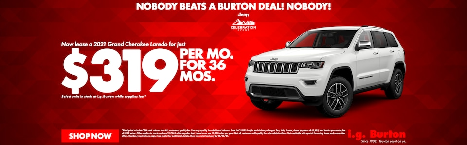 Save big on a new Grand Cherokee!