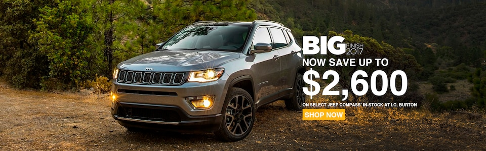 Save up to $2,600 on a new Jeep Compass!