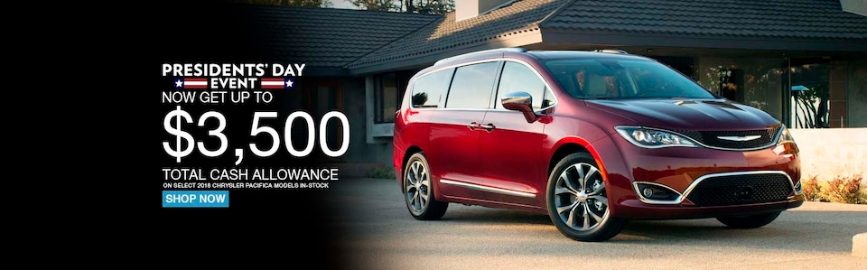 Get up to $3,500 off of a new Pacifica!
