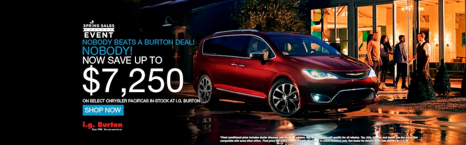 Save up to $7,250 on a new Pacifica!