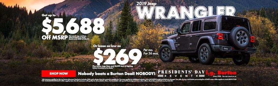 Save big on a new Wrangler!