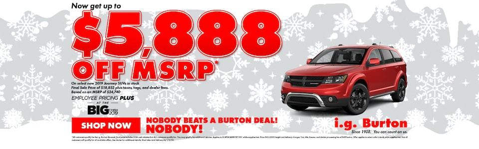 Save big on a new Dodge Journey!