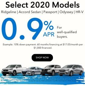 0% 2020 Ridgeline | Accord Sedan | Passport | Odyssey