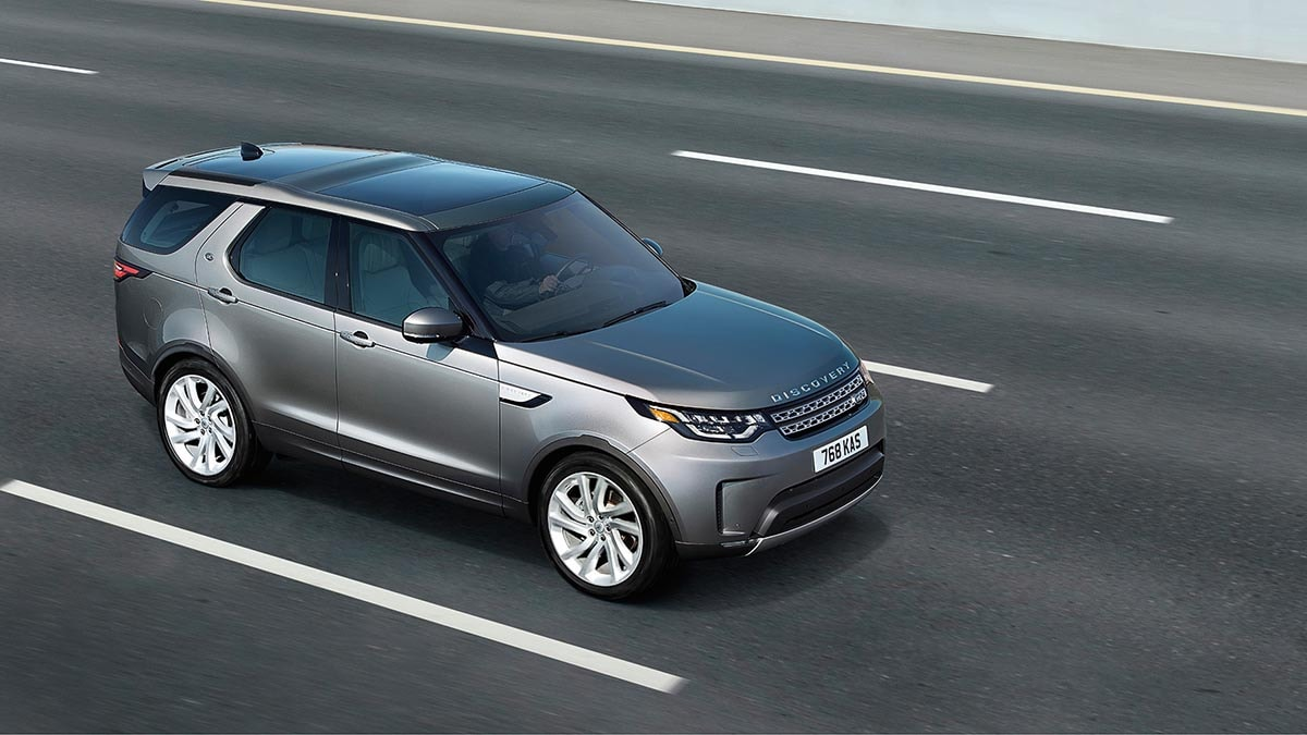 2018 Land Rover Discovery on highway
