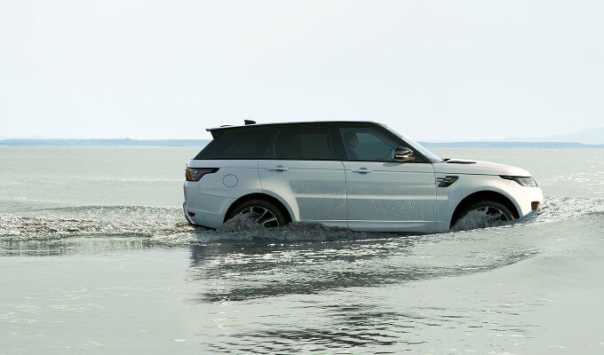 2018 Range Rover Sport wading through water