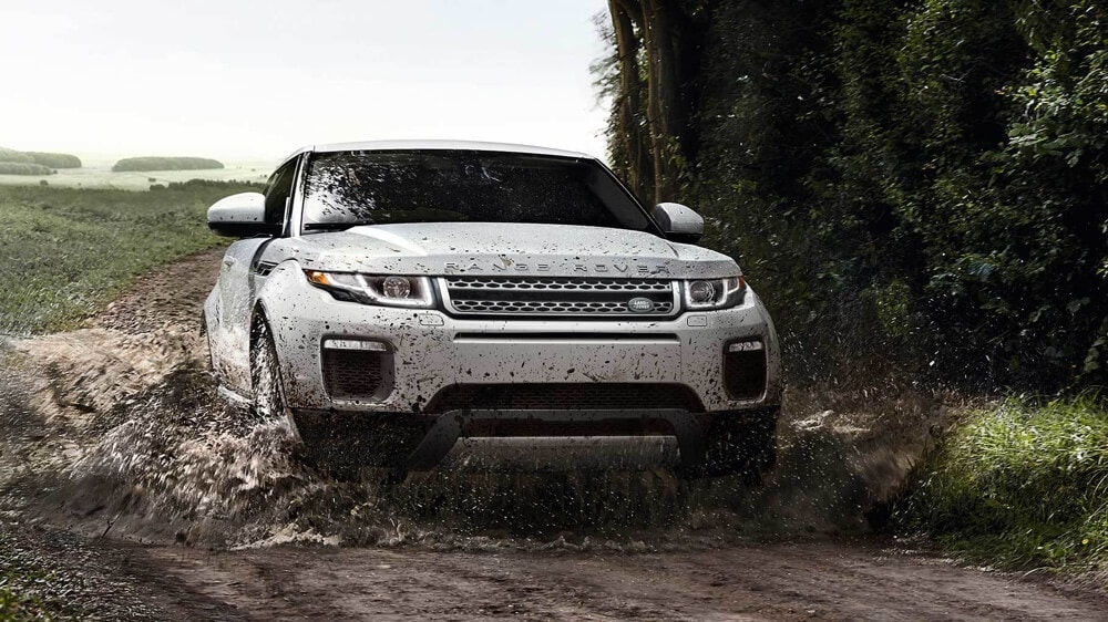 2018 Land Rover Range Rover Evoque drives off-road