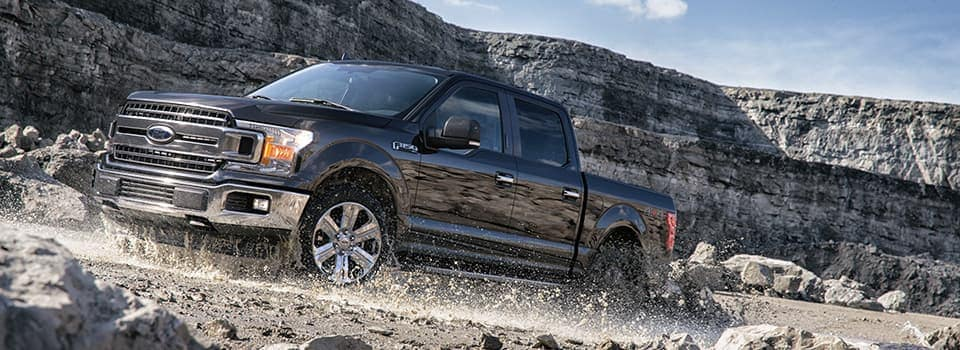 Ford F  Driving On Rocks