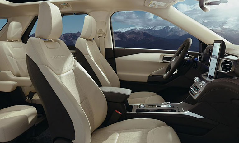 2020 Ford Explorer interior front seating