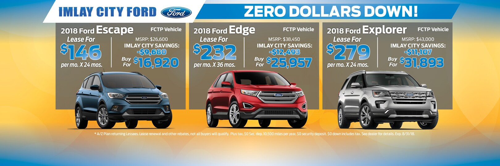 Ford Escape Edge And Explorer Lease Offers