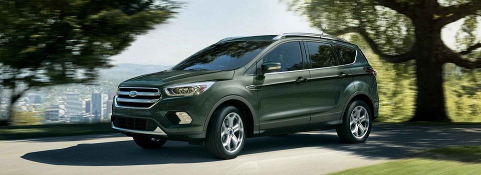 titanium 2019 ford escape in a park