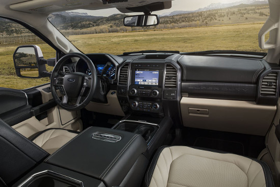 2020 Ford Super Duty interior features