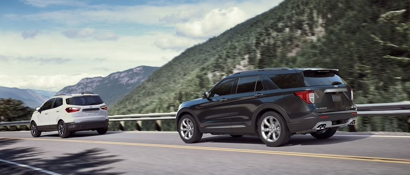 2020 Ford Explorer exterior view driving down rode