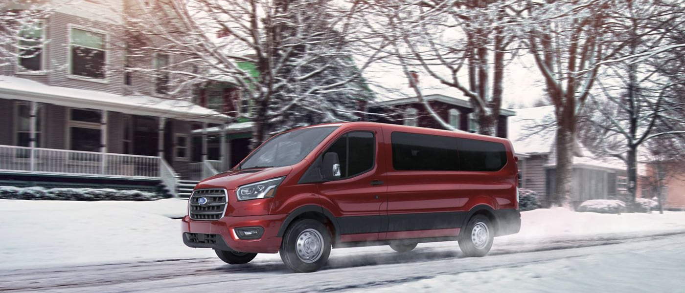 Red 2020 Ford Transit