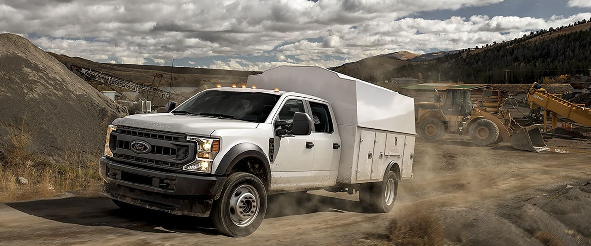 White 2020 Ford Super Duty Chassis Cab F-450
