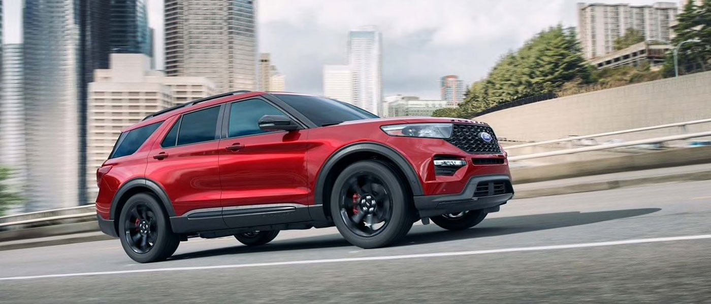 2020 Ford Explorer driving in city