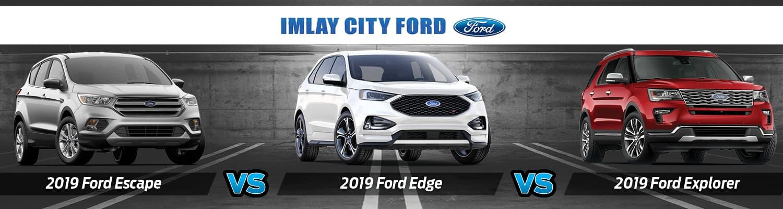 Ford Edge Vs Escape >> 2019 Ford Explorer Vs Escape Vs Edge