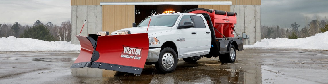 2017 Ram 3500 Heavy-Duty Pickup Truck with Snow Plow and Spreader