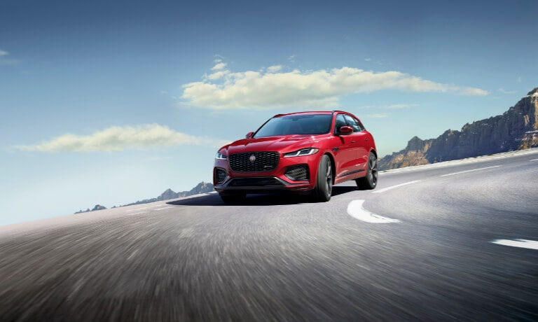 2021 Jaguar F-PACE driving