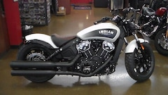 New 2019 Indian Motorcycle Scout  Bobber ABS White Smoke for sale at Dick Scott Automotive Group