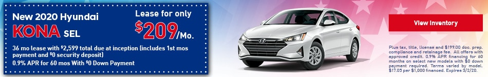 2020 Hyundai Elantra SE - Lease Offer