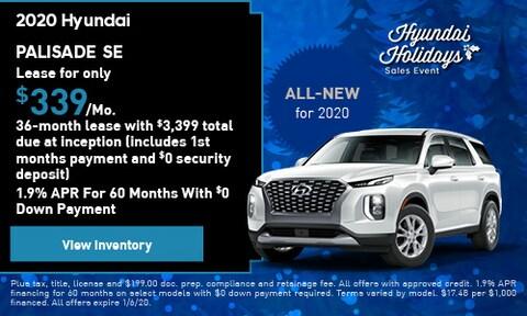 New 2020 Hyundai Palisade SE - Lease
