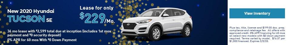 2020 Hyundai Tucson - Lease